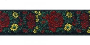 Lillekimpudega dekoratiivpael, laiusega 50 mm, värv 5N NERO, Art. 17147