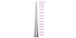 13 astmeline terasest käevõru, rõnga mandrell 33,5cm, PK6015, TF6
