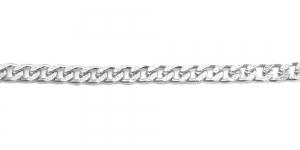 Alumiiniumkett Hõbedane 18 x 8 x 2 mm, MA103