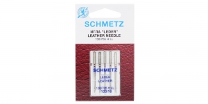 Leather Needles for Home Sewing Machines, Schmetz, No. 100 (16)