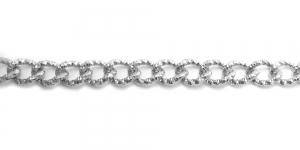 Alumiiniumkett Hõbedane 18 x 14 mm, MA101