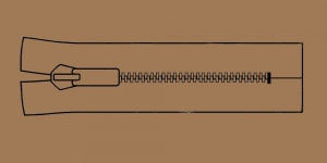 Muovihammas vetoketju Coats Opti 6mm, 26cm-32cm, umpivetoketju, väri: 8548