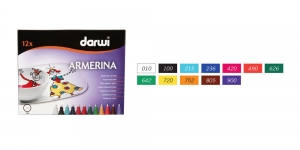 Portselani viltpliiatsite Darwi Armerina komplekt, 2mm joon, 12tk x 6ml