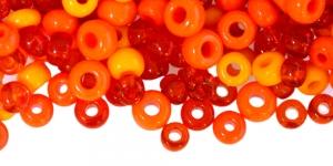 Oranžikates toonides, pärlisegu, 4-8,5mm, LL54