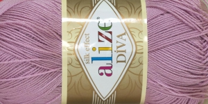 Diva Silk Effect Yarn; Colour 291 (Light pink), Alize