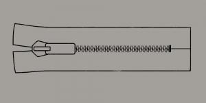 Plast hammaslukk, traktorlukk, Koh-I-Noor, 30cm alt kinni, värv 9391