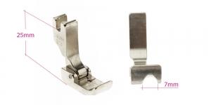 Kõrge kruvikinnitusega (tööstusliku õmblusmasina standard) paspuaalkanditald, 7 mm, renn paremal, KL0849