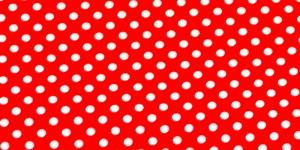 Trikookangas, Valged täpid, punasel taustal, 160cm