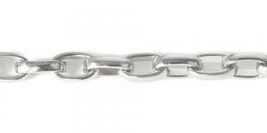 Alumiiniumkett Hõbedane 15 x 9 x 4 mm, MA108