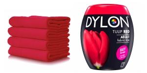 Pesukoneväri DYLON Fabric Dye, sis suolan, 350 g, Tulpaaninpunainen, Tulip Red
