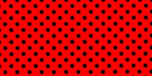 Trikookangas, Mustad täpid, punasel taustal, 160cm