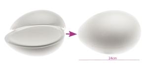 2-poolne avatav, seest tühi penoplastist e. stüroksist muna 17 x 24 cm, KL1741