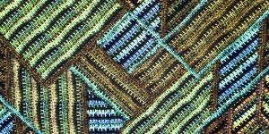 Samblarohelisekirju mustriga trikookangas 150cm, 007522-009