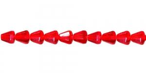 LN850 6,5x6mm Punane, läbipaistev tahuline tilk