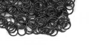 Metallrõngad keti valmistamiseks, traat 20 ga ø4,37 mm, 150 tk, pinnatud: must oksiid, A314-20-02-07