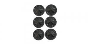 WD3 13mm Must, läbipaistmatu dekoraatiivkivi, 4tk