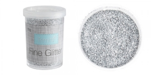 Litripuuder Micro Fine Glitter puistetopsikus, 15g, hõbedane, Trimits UF14