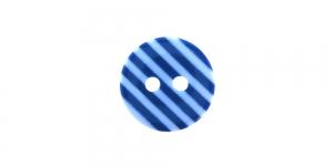 ø12 mm Sinise-valgetriibuline, ümar plastiknööp, SO287