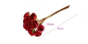 Paberlillede kimp, roosid, 12 õit, õis ø12 mm, punased, B1971RE