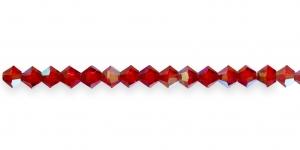GR18 3mm Rubiinipunased läbipaistvatvad AB-kattega tahulised klaashelmed 16tk