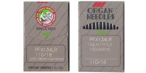 Tööstusliku õmblusmasina nahanõel, System: 134LR, 135x5 LR, SY1955 LR, DPx5 LR, ORGAN Nr.110 (= No.18) 10 tk/kompl