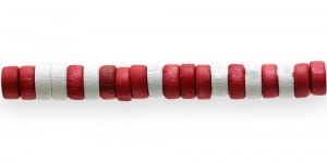 IM23 8x4mm Värvisegu lakitud rõngakujuline puithelmes ca. 50tk kmpl