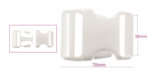 Plastikust pistlukk 47 mm x 70, rihmale laiusega 35-40 mm, valge, UG57