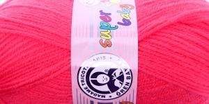 Beebilõng Super Baby; Värv 002 (Neoonikasroosa), MadameTricote