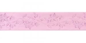 Jacquard satin ribbon, Art.38968, color No.Pink
