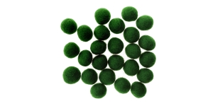 Handmade Felt Ball 25 pcs set, ø15 mm - 17 mm, Nepal wool, Habico, HF118_XMAS_GREEN