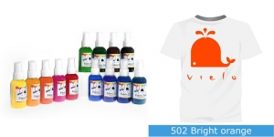 Spreivärvid kanga värvimiseks, Fabric Paint Spray, 50 ml, Vielo, Värv: erkoran?, #502 Bright orange