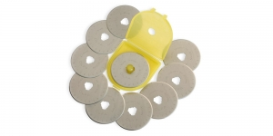 Replacement Rotary Cutter Blades; 10 pcs, ø45 mm, OLFA, RB45-10