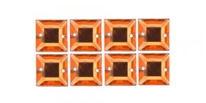WH42 10mm Heleoranž, läbipaistev kandiline akrüülkristall, 8tk