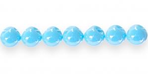 AE83 11mm Türkiissinine ümar läbipaistmatu plasthelmes