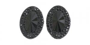 WD18 25x18mm Must, läbipaistmatu dekoraatiivkivi, 2tk
