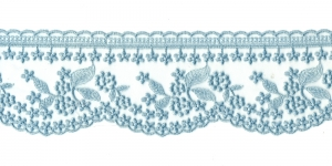 Õrn tüllile tikitud äärepits laiusega 9 cm, WT-30693, värv sinakashall