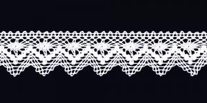 Pitsinauha 3,3 cm Art.D201, väri 01 valkoinen