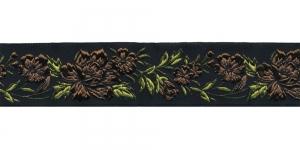 Must, Pruuni lillemustriga pael 32 mm, Art. 35096, V7