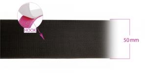 Лента липучка крючок, грубая лента-крючок, ширина 50 мм, черная