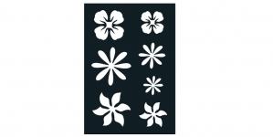 Iseliimuvad šabloonid värvimiseks 7cm x 10cm Ki-Sign BS-021