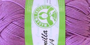 Puuvillane lõng Camilla; Värv 4945 (Roosakaslilla) / Madame Tricote
