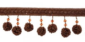 Dekoratiivne servapael pallikestega laiusega üldlaiusega 10 cm, värv nr.1, pruun