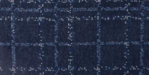 Puuvillane veniv kangas, helesinine, valge ruut, tumesinisel taustal, 160cm