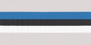 Sini-musta-valkoinen (Eestin kansallis)nauha, 25mm