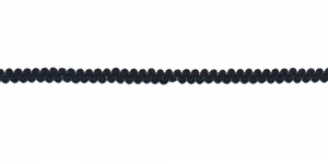 0,8mm Põimitud kaunistuspael, Must Nr. 17