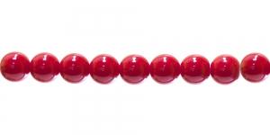 LN301A Ümar klaaspärl, Tšehhi, 10mm, Punane läbipaistmatu