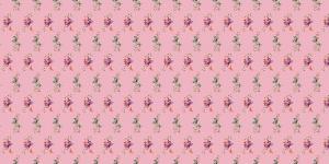 Puuvillane trikookangas lillede ja liblikatega Art.3805-12 roosa