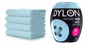 Pesumasinavärv, Dylon Fabric Dye, 350 g, sisaldab soola, Värv: helesinine, Vintage Blue