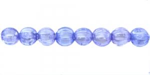 Sinine valge sisuga läbipaistev akrüülhelmes, AA65 7mm