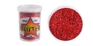 Litripuuder Micro Fine Glitter puistetopsikus, 15g, punane, Trimits UF16